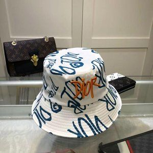 Dior Letter Embroidered Sunshade Bucket Hat